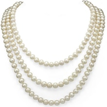 NECKLACE WITH PEARLS - PEARL NECKLACE - PEARLS