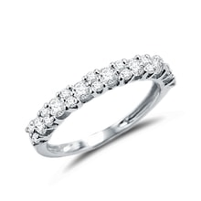Anniversary ring with diamonds - White gold rings