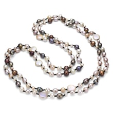 COLORED PEARL NECKLACE - PEARL NECKLACE - PEARLS