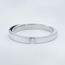 STERLING SILVER RING WITH DIAMOND - STERLING SILVER RINGS - RINGS