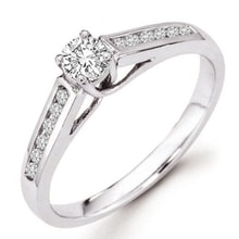 ENGAGEMENT RING IN WHITE GOLD WITH DIAMONDS - DIAMOND ENGAGEMENT RINGS - ENGAGEMENT RINGS WITH GEMSTONES
