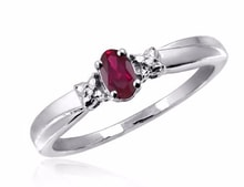 RUBY RING, SILVER - RUBY RINGS - RINGS