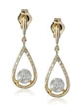 GOLD DIAMOND EARRINGS - GOLD EARRINGS - EARRINGS