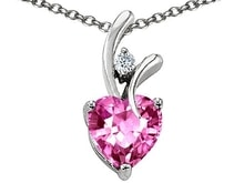PENDANT WITH PINK SAPPHIRE - JEWELLERY SALE