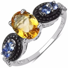 RING WITH CITRINE AND TANZANITE - JEWELLERY SALE