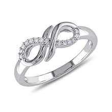 "Gold ring with diamond ""Infinity"" - Diamond Rings"