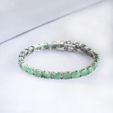 EMERALD BRACELET - GEMSTONE BRACELETS - JEWELLERY BY GEMSTONE