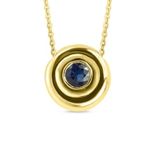 Gold pendant with blue sapphire - Gold pendants