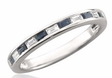 WEDDING RING WITH DIAMONDS AND SAPPHIRES - SAPPHIRE RINGS - RINGS