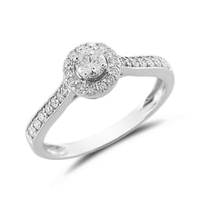 ENGAGEMENT RING WITH DIAMONDS IN WHITE GOLD - WHITE GOLD RINGS - RINGS