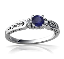 Sapphire ring, gold - Sapphire rings