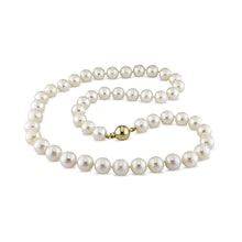 NECKLACE OF WHITE PEARLS - PEARL NECKLACE - PEARLS