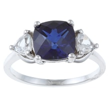 SILVER RING WITH SAPPHIRES - SAPPHIRE RINGS - RINGS