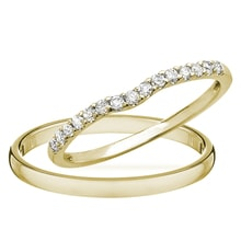 Yellow gold wedding rings - Diamond Wedding Rings