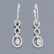 VISACÍ DIAMANTOVÉ NÁUŠNICE - DIAMOND EARRINGS - EARRINGS