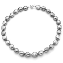 PEARL NECKLACE OF GRAY BAROQUE PEARLS - PEARL NECKLACE - PEARLS