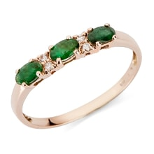 GOLDEN RING WITH EMERALDS AND DIAMONDS - JEWELLERY SALE