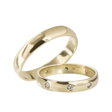 GOLD WEDDING RING WITH DIAMONDS - GOLD WEDDING RINGS - WEDDING RINGS WITH GEMSTONES