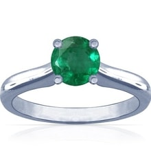 RING IN WHITE GOLD WITH EMERALD - EMERALD RINGS - RINGS
