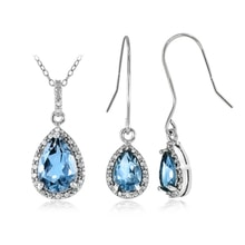 SILVER SET WITH TOPAZ - JEWELLERY SETS - JEWELLERY BY GEMSTONE