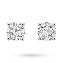 Diamond earrings in 14k white gold, 0.2 carat - Stud earrings