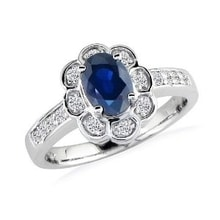 SAPPHIRE RING, WHITE GOLD - SAPPHIRE RINGS - RINGS