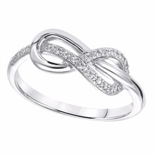 SILVER RING INFINITY - STERLING SILVER RINGS - RINGS