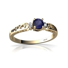 GOLDEN RING WITH SAPPHIRE - SAPPHIRE RINGS - RINGS