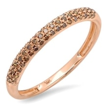 RING IN ROSE GOLD WITH DIAMONDS - ROSE GOLD RINGS - RINGS
