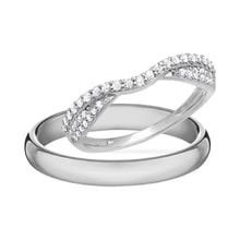 Diamond ring in white gold - Diamond Wedding Rings