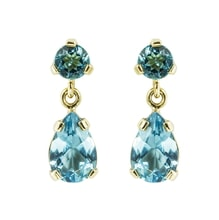 Earrings with blue topaz - Jewellery Sale