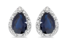 EARRINGS WITH SAPPHIRES - SAPPHIRE EARRINGS - EARRINGS