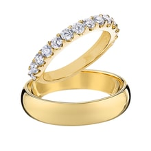 GOLD WEDDING RINGS - DIAMOND WEDDING RINGS - WEDDING RINGS