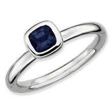 GOLD RING SAPPHIRE - WHITE GOLD RINGS - RINGS