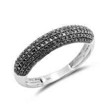 Diamond wedding ring in 14kt white gold - White Gold Rings