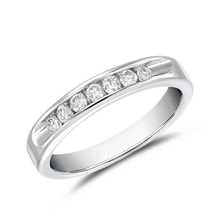 DIAMOND RING IN WHITE GOLD - WOMEN'S WEDDING RINGS - WEDDING RINGS WITH GEMSTONES