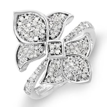 EXCLUSIVE DIAMOND RING IN THE SHAPE OF FLOWERS - DIAMOND RINGS - RINGS