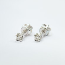 CHILDREN EARRINGS WITH DIAMONDS - DIAMOND EARRINGS - EARRINGS