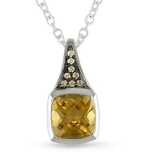 Sterling silver pendant with citrine - Jewellery Sale
