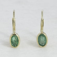 GOLD EMERALD EARRINGS - GOLD EARRINGS - EARRINGS