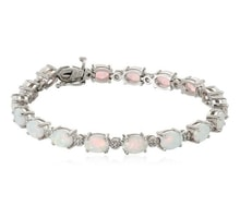 SILVER OPAL BRACELET - GEMSTONE BRACELETS - JEWELLERY BY GEMSTONE