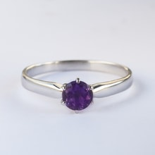 GOLD AMETHYST RING - ENGAGEMENT RINGS WITH GEMSTONES
