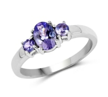 SILVER RING WITH TANZANITE - ENGAGEMENT RINGS WITH GEMSTONES