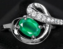Ring with sapphires and Aventurine - Jewellery Sale
