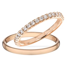 WEDDING RINGS IN ROSE GOLD WITH DIAMONDS - DIAMOND WEDDING RINGS - WEDDING RINGS WITH GEMSTONES