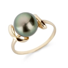 Tahitian pearl ring in 14kt gold - Pearl Rings