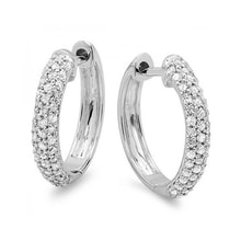 White gold diamond earrings - Diamond earrings