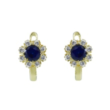 CHILDREN EARRINGS WITH CUBIC ZIRCONIA - CHILDREN'S EARRINGS - EARRINGS