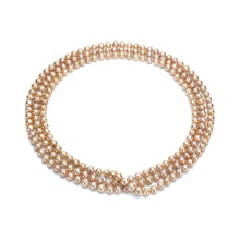 Pink pearl Necklace - Pearl necklace