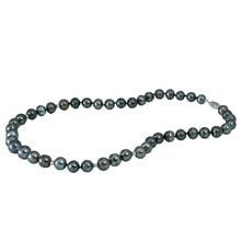 NECKLACE OF TAHITIAN PEARLS AND GOLD - PEARL NECKLACE - PEARLS